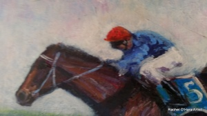 The final furlong (close up of)