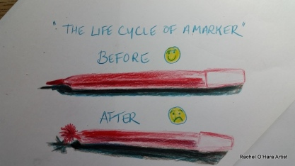 The life cycle of a child's marker